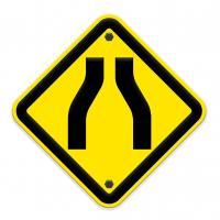 bottleneck street sign