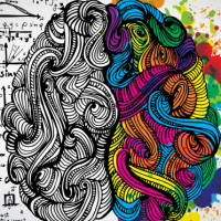 colorful right side of brain