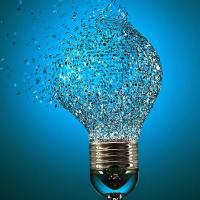 exploding lightbulb