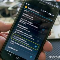 android talkback screen