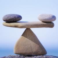 Two rocks balancing