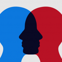 Image of two people overlapping to show empathy
