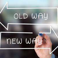 Old way versus new way