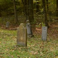 Tombstones in a graveyard