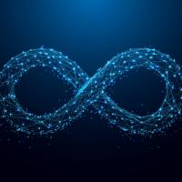Infinity symbol made with code