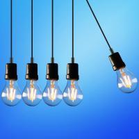 Five light bulbs