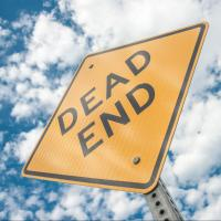 """Sign saying """"Dead end"""""""