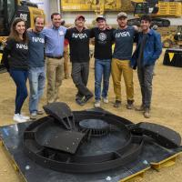 A 3D-printed dome structure that won first place in Phase 2: Level 3 of NASA's 3D-Printed Habitat Challenge. Photo by NASA/Joel Kowsky