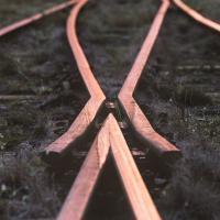 Third rail of a train track