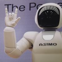Robot doing a hand signal