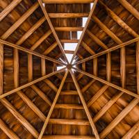 Filling in gaps in an octagonal wood roof
