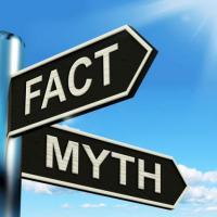 """Signposts saying """"Myth"""" and """"Fact"""""""