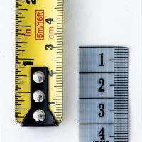 Yellow and gray rulers