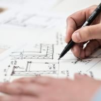 Architect designing a new structure