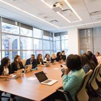 Agile team in a meeting