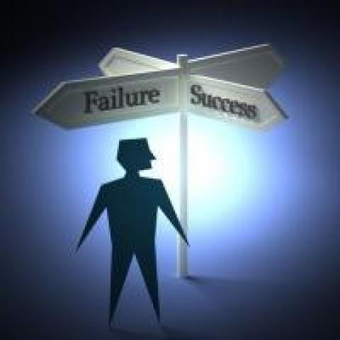 failure and success road signs