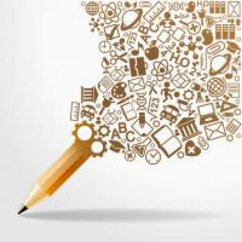 ideas flowing into pencil