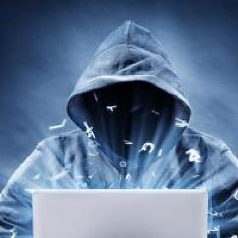 hacker using computer