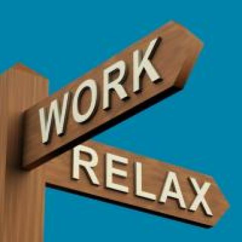 work and relax street signs