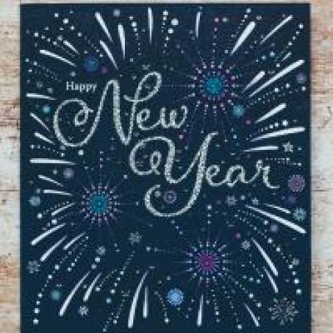 Happy new year fireworks photo by Annie Spratt