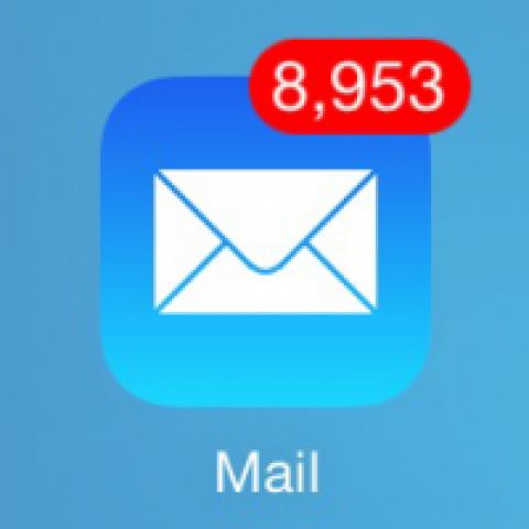 Full inbox of unopened emails