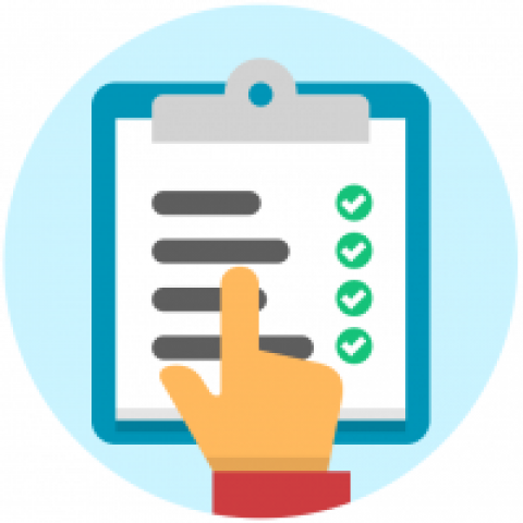 A list of requirements with checkmarks