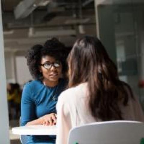 Employee receiving feedback