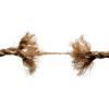 Rope under stress fraying apart