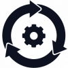 Icon showing continuous integration