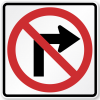"""""""No right turn"""" sign"""